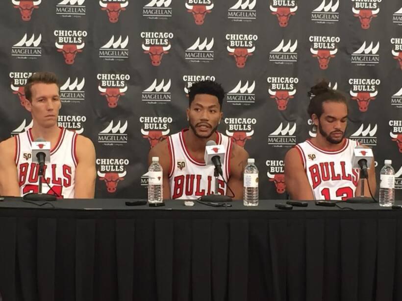 Fotos del detrás de cámaras del Media Day de los Bulls de...