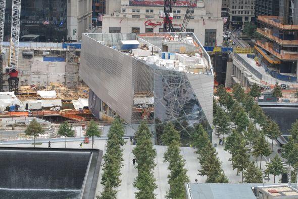 Así se ve parte de la Zona Cero desde el edificio que está sobre West Br...