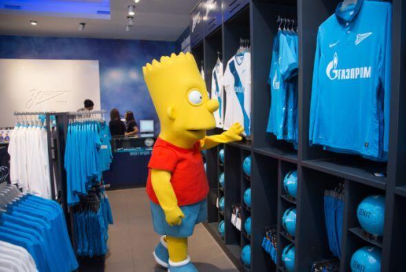 Aquí en la tienda oficial del Zenit.