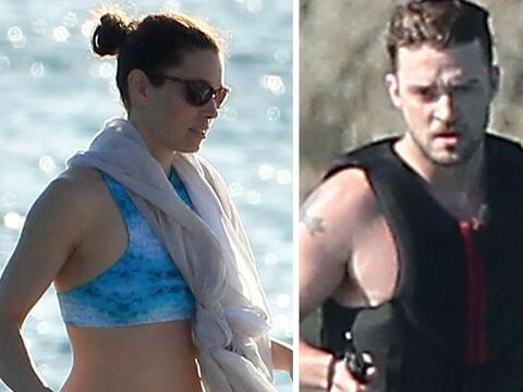 Justin Timberlake y Jessica Biel se escaparon a Barbados. Más vid...