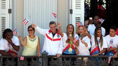 Fiesta olímpica en La Fortaleza