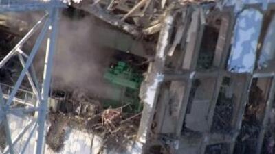 Los graves daños en los edificios que protegen los reactores de la plant...