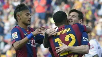 La MSN extrañará a Rafinha en Barcelona.