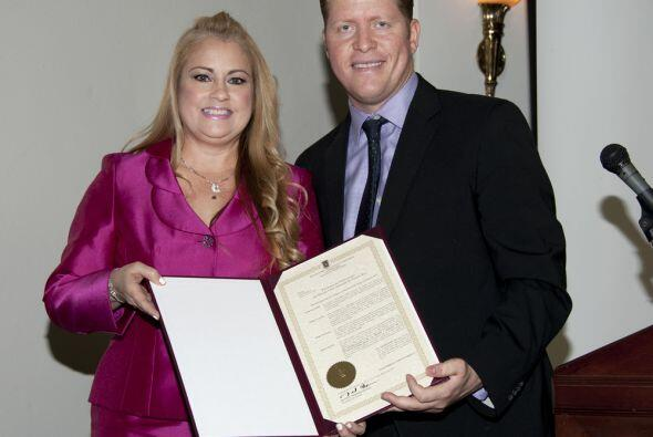 Procuradora de la mujer, Wanda Vázquez,  junto al Secretario de Estado,...