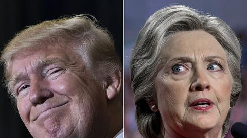 El presidente electo Donald Trump y la candidata derrotada Hillary Clinton