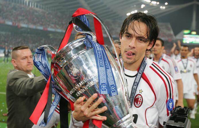 Con la camiseta del Milan, 'Pippo' dejó 126 goles y logró los mi...