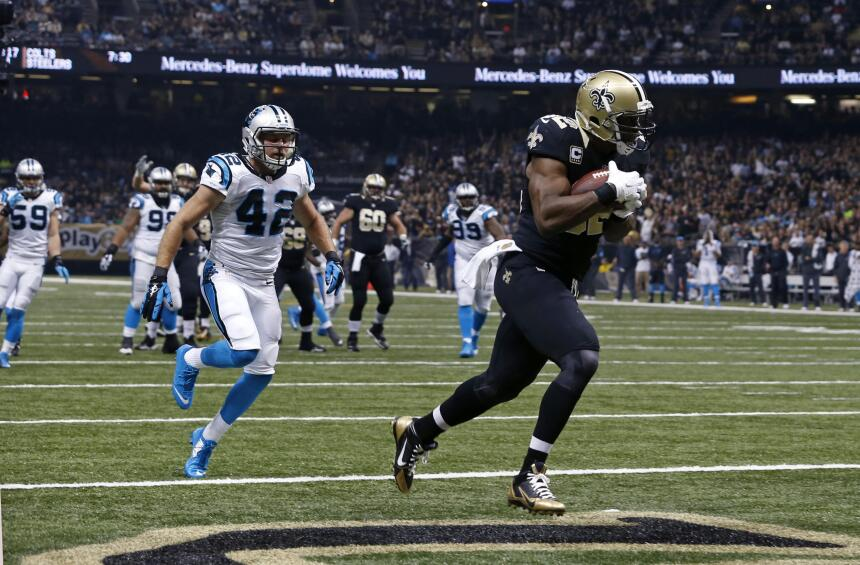 Los Carolina Panthers vencieron 41 - 38 a los New Orleans Saints para ll...