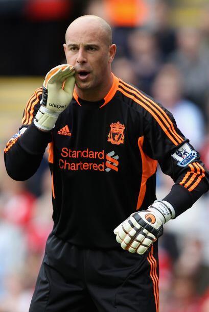 Pepe Reina estuvo de indiscreto en el empate de Liverpool en la primera...