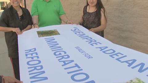 Inmigrantes católicos emprenden un largo peregrinaje para pedir una refo...