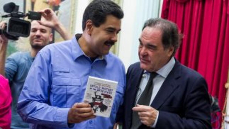 Nicolás Maduro y Oliver Stone
