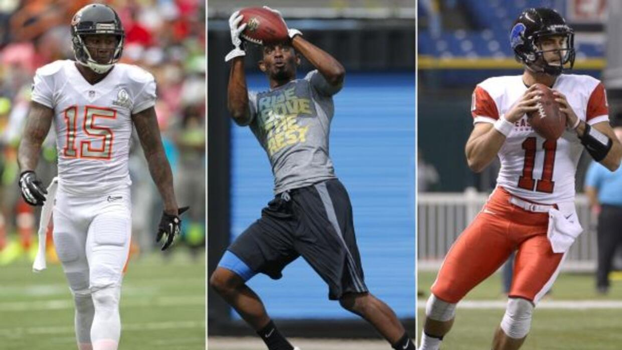 Brnadon Marshall, Jerry Rice Jr. y Jimmy Garoppolo (AP-NFL).
