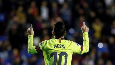 Un animal: Lionel Messi firmó el 'hat trick' número 49 de su carrera y el 43 con el Barcelona
