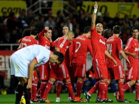 Real Madrid le ganó por goleada 6 a 2 al Sevilla, en un partido...