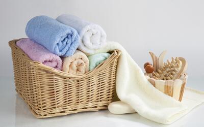 Las toallas son un elemento decorativo sencillo y funcional. Este simple...