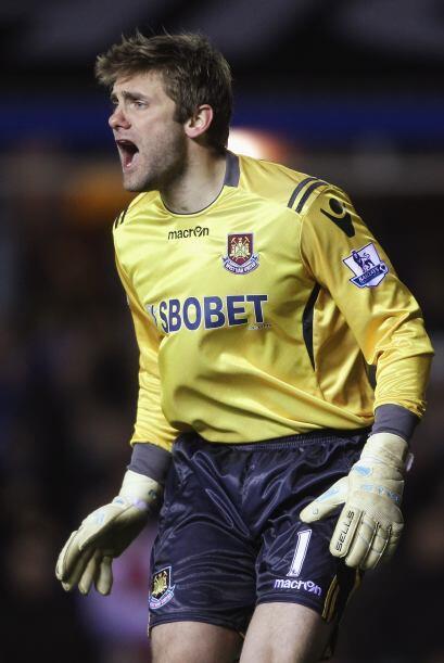 Robert Green, portero inglés del West Ham, en cualquier momento llora po...