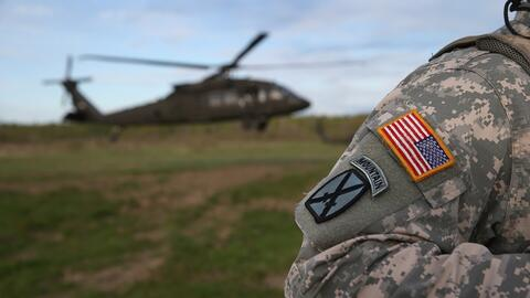 Imagen de un soldado estadounidense entrenando para futuras operaciones...