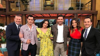 En fotos: Ana Brenda llegó muy bien acompañada por David Zepeda y Julián Gil, sus galanes en 'Por amar sin ley'