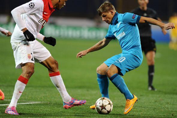 El Zenit no pudo aprovechar su localía y empató 0-0 con el Mónaco.