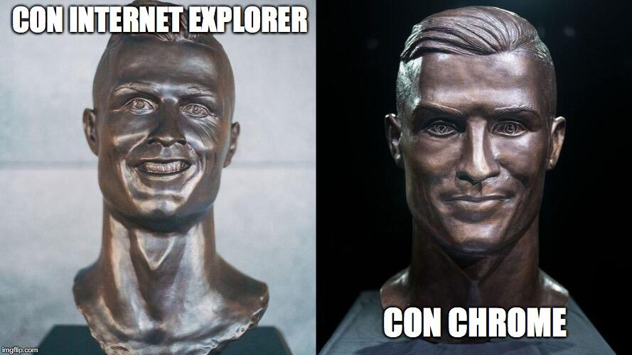 El nuevo busto de Cristiano no se salvó de los divertidos memes 27e8f8.jpg