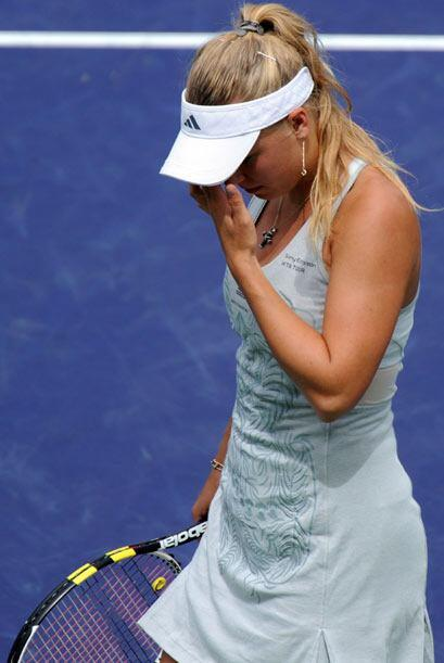 La tristeza por la derrota no quita la belleza de esta talentosa tenista.