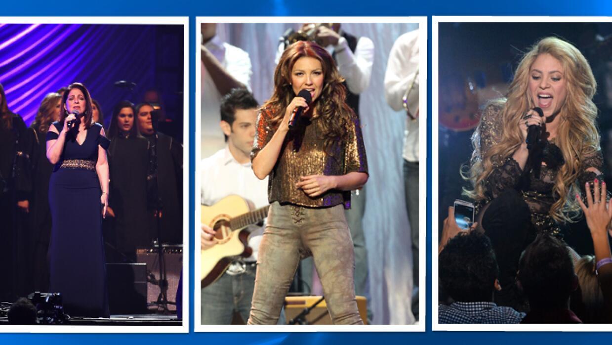 Shakira, Thalia y Gloria Estefan cantarán canción contra Donald Trump