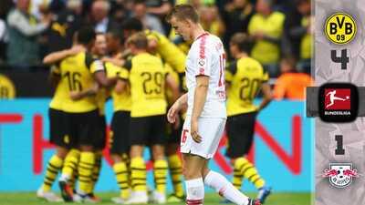 El Leipzig le 'tosió' al Dortmund, pero el Borussia dio la voltereta con goles espectaculares