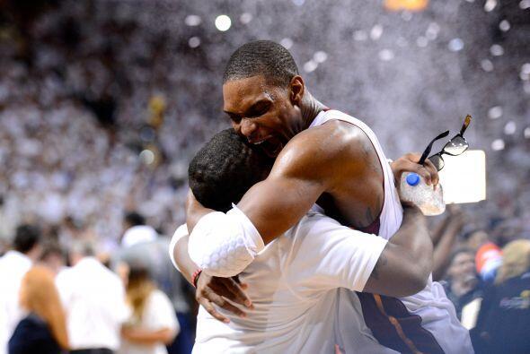 Chris Bosh llegó al Heat también hace dos años procedente de los Toronto...