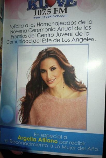 """Nuestra Argelia Atilano fue nombrada """"Mujer del Año! por East LA Communi..."""