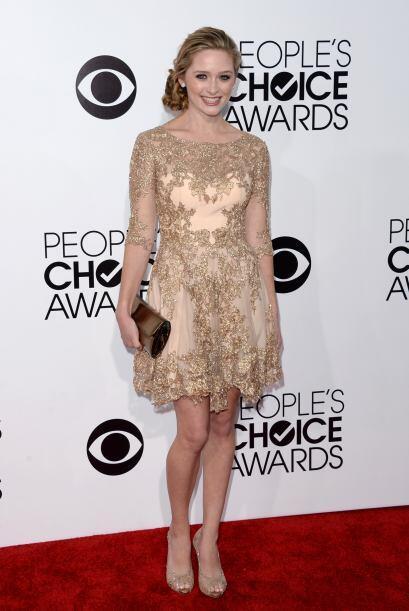 El bordado dorado y las transparencias hicieron del vestido de Greer Gra...