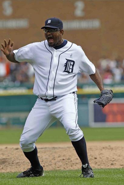 José Valverde, cerrador dominicano de los Tigers, es otro as caribeño qu...