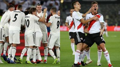 Números del Real Madrid y River Plate en su participación en el Mundial de Clubes