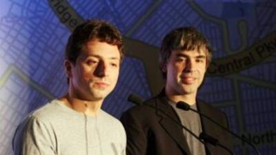 Los exitosos fundadores de Google, Sergey Brin y Larry Page.