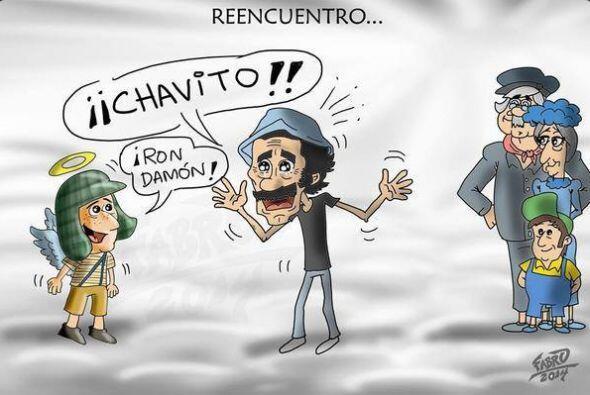En esta meme los actores fallecidos que formaron parte de El Chavo del O...