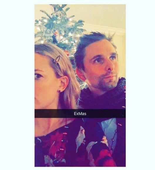 ¿Cuáles problemas? Kate Hudson pasó la Nochebuena con su ex, Matt Bellamy.
