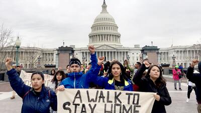 Dreamers frente al Congreso para pedir la aprobación de un proyec...