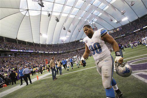 Ndamukong Suh, tackle ofensivo de los Detroit Lions (AP-NFL).