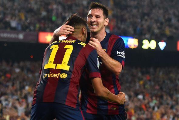 El siguiente encuentro culé fue ante Éibar donde Messi vol...
