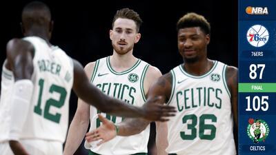 Los Celtics arrancan la temporada con clara victoria sobre los 76ers