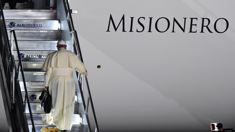 Papa Francisco a su partida de Juárez.