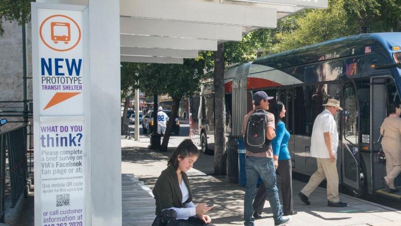 Autobús de la agencia de transporte VIA.