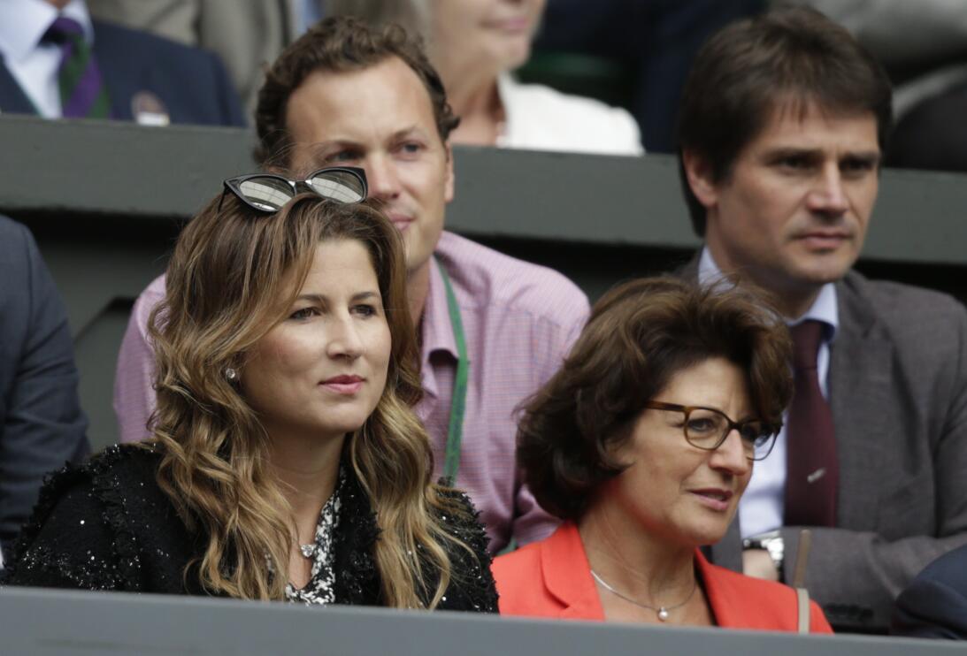 Junto a Mirka Federer, esposa del tenista suizo, siempre está Lynette Fe...