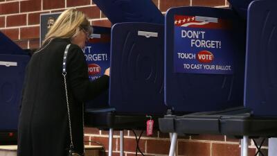 Una votante en Carolina del Sur.
