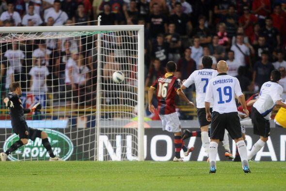 Inter siguió buscando el gol y lo consiguió al final del cotejo. El bras...