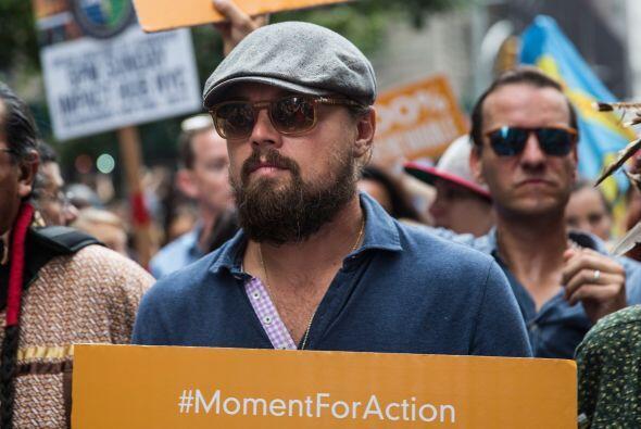 Uno de los famosos más esperados en la marcha contra el cambio climático...