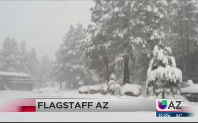 Nieve, granizo y lluvia se registran en Arizona