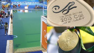 De oro solo tenían el barniz: medallas malhechas, agua verde y otros fiascos