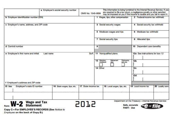 3- Si ganaste dinero durante el 2014 necesitarás las formas W-2 del IRS...