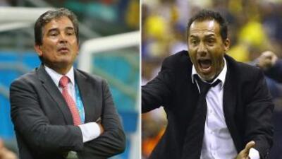 Jorge Luis Pinto y Gustavo Matosas.