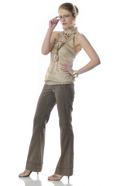 Traduciendo su léxico 'fashionista', un pantalón con cintura a la altura...