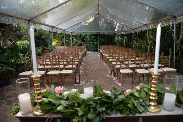 Así lucía el lugar donde Vanessa y Jorge Menéndez contraerían matrimonio...